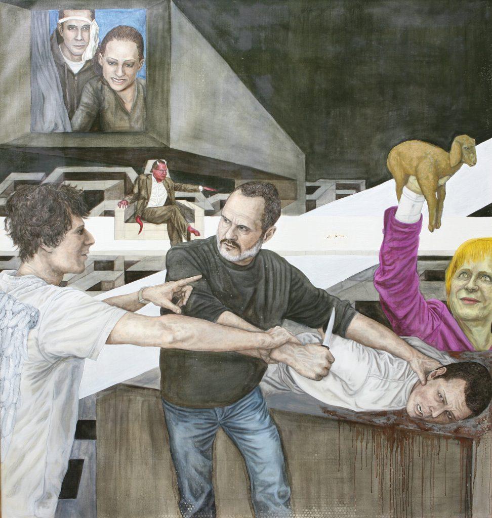 Das Opfer - Teil 1 - Öl - Leinwand 200x190cm