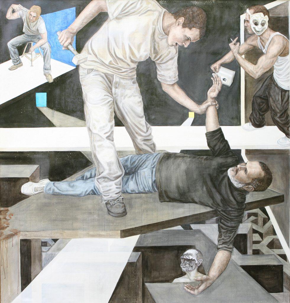 Das Opfer - Teil 2 - Öl - Leinwand 200x190cm