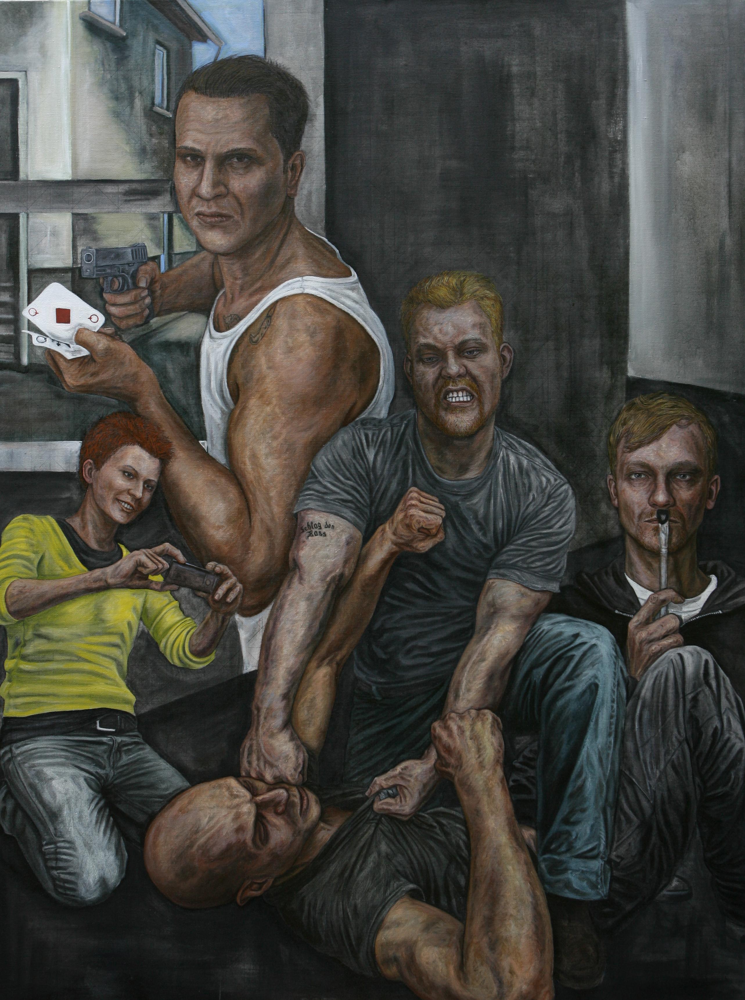 Fuck Art Dada siegt - Teil 1 - Öl - Leinwand 200x150cm