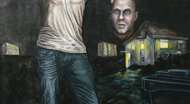 nach Caravaggio David und Goliath ÖlLw 200x150cm 2012t